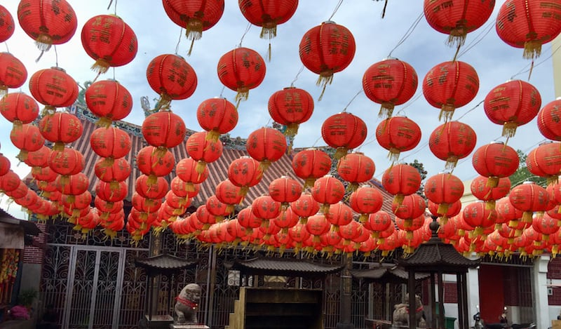 Chinese New Year paints the town red